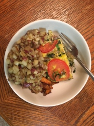 Frittata and hash browns
